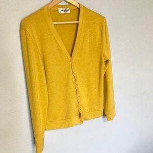 Nearkin Sweaters Mens Mustard Yellow Cardigan Small Poshmark